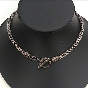 THICK HEAVY Sterling Silver Wheat Link Chain Toggl